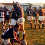 Tino Prince ready to kick after Arief scored winning try against Macasar late 2001
